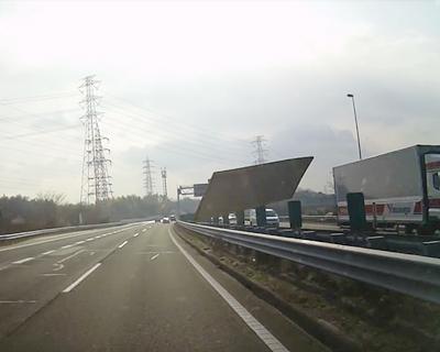 高速道路で畳