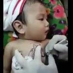 赤ちゃんにタトゥー