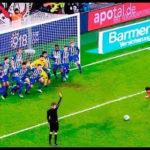 サッカーの試合中に起こった珍しい出来事