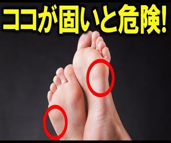 足裏のここが固いと危険!足裏であなたの健康状態がわかる!