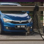 【動画】駐車場に止まっている車のナンバーを持って行ってしまう猿