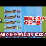 【動画】IQ低い人にはできない超難解クイズ問題!どうやって川を渡る?