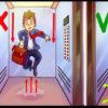 【動画】落下するエレベーターで生き残るたった一つの方法