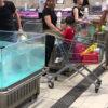 【動画】鮮魚売り場の水槽から魚が大ジャンプし…