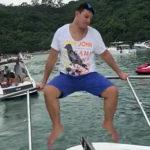 ボートから転落